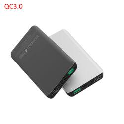 셀룰라 전화 QC3.0는 건전지 충전기 힘 은행 10000mAh 외부 단식한다