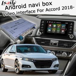 GPS van Lsailt het Androïde Systeem van de Navigatie voor Honda Accord 2018 - enz. VideoInterface met Carplay AchterMening Yandex Navi Waze enz.