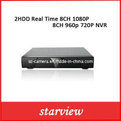 Sorveglianza 2HDD 8CH in tempo reale 1080P/8CH 960p (720P) NVR