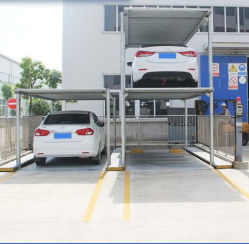Tipo elevatore del pozzo di parcheggio dello spazio dell'impilatore uno per due automobili