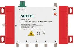 4 Sat-If +1 Terr. Signale CWDM Optischer Empfänger Satelliten TV Empfänger
