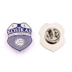 High Quality Soft Emaille Baseball Police Military Army Shoulder Breast Brooch Pin Badge Zazzle Printing Paper With Butterfly Clutch