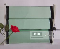 Lo strato di vetro 4mm, 5mm, il reticolo modellato colorato tinto verde blu Nashiji Mistlite della feritoia della feritoia del bronzo della radura di 6mm ha temperato il taglio indurito per graduare il prezzo secondo la misura di fabbrica