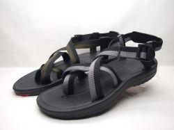 Sandali dell'uomo dei sandali di sport dell'uomo del sandalo dell'OEM TPR con nastro adesivo tessuto (21yx851)
