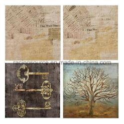 طباعة قماش مع طباعة لوح نسيجي زيتي عصري وديكور الجدار