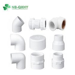 Sch40 ASTM Plumping le raccord en plastique du raccord de tuyau en PVC Amérique raccord PVC PVC blanc, prise de raccord et le filetage du raccord d'approvisionnement en eau et les raccords de l'eau de vidange