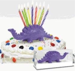 Vela de aniversário bolo Stegosaurus dinossauro brinquedo do cortador de pontas até 10 anos