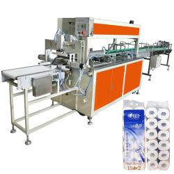 10 Rolls-Paket-Toilettenpapier-Gewebe-Verpackungsmaschine