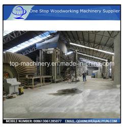Le MDF automatique de machines de production de bois, le journal de la Direction générale, les déchets de bois, de gauche de la sciure de bois utilisé reports// MDF Raffineur Machine/ de la mélamine face HDF Hot Pres