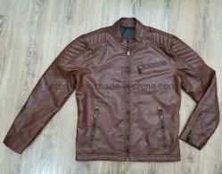 Rivestimento/cappotto della pelle scamosciata tinti olio dell'indumento dell'unità di elaborazione del cuoio del Faux del Brown degli uomini