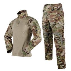 Al aire libre del hombre OEM Anti-UV seco rápida Camiseta de Entrenamiento Táctico del Ejército de EEUU de manga larga camisetas militares Convertible