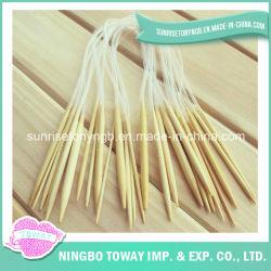Ganchos de Leva de Ganchillo de Bambú Circulares de las Herramientas de la Aguja Que Hacen Punto Que Hace Punto