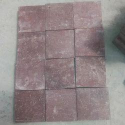 레드 포피리 천연 화강암 포장도로 석재