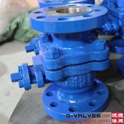 API 6D de Van een flens voorzien Kogelklep Uit gegoten staal van de Brand van het Water van het Wafeltje van het Gas van Steel&Wcb& van de Koolstof Veilige Drijvende