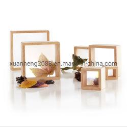 Обставлены деревянной увеличение геометрический рисунок строительные блоки