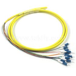 12 treccia ottica del nastro colorata fibra della fibra di MP G652D LC