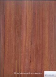 Folha de Art Deco de PVC de grãos de madeira para mobiliário/Gabinete/Porta laminado a quente/membrana de vácuo Pressione Bgl185-188