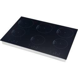 6 bruciatori costruiti nella stufa nera del fornello di induzione degli elettrodomestici di cristallo