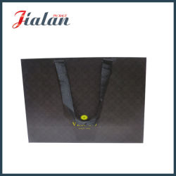grosgrain のハンドルが付いているカスタマイズされた広告のギフトのペーパー袋