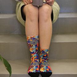 Оптовая торговля рисунка теплый хлопок экипажа женские пресс для брюк носки