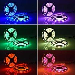 Bande LED, des feux de changement de couleur étanche 5050/3528/2835 LED Flexible Kit de feux de bandes avec 44 Touche Contrôleur de la télécommande infrarouge et 12V/Alimentation 24V pour Noël