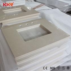 Superficie sólida de marfil Acrylic Cocina Encimera con fregadero