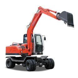 地球のポストのオーガーが付いている構築の坑夫の機械のための車輪の油圧小型掘削機