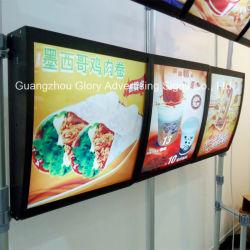 Menú de Comida rápida con retroiluminación Placas para firmar el menú del restaurante