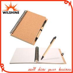 Custom Hot Selling Spiral Paper Notebook met pen (SNB127)