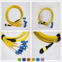 Mehrmodenkabel der LC-Upc Duplexverdrahtungs-Om3 50/125, Polarität B, Auslese, Steckschnür LSZH Bündel LC-MPO/MTP