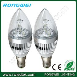 Homeのための3W Dimmable LED Candle Bulbs
