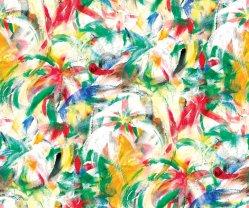 Señoras florales vestidos de desgaste de la Voile de algodón tejido de encaje suizo