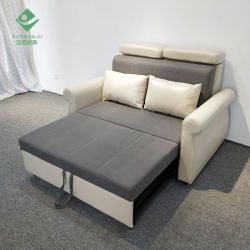 Fabrieksprijs Massief hout Frame Fabric Sofa Bed Convertible Sofa Slaapbank Loveseat slaapbank Cum Bed