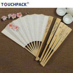 Деловые подарки из сандалового дерева вымытой карманные складные вентиляторы для танцев