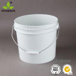 White 13L Heavy Duty cucharón Contenedor de balde de plástico transparente