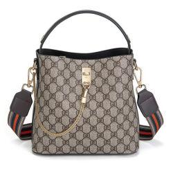 Neueste Bucket Bag Schulter Luxus Leder Damen Mode Vintage Handtasche (8001)