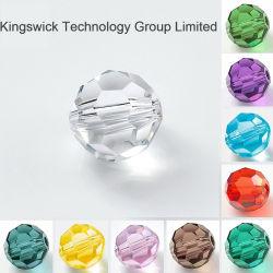 Preiswerteres bildenDIY Kristallschmucksachen loses Rondelle Kristallglas-Korne