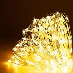 Het Licht van het Koord van de LEIDENE Draad van het Koper met Warm Wit Licht voor de Decoratie van Kerstmis