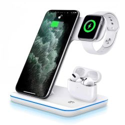 1 10WチーWireless Charger Fast Wireless Mobile Phone Charger Stand Wireless Bracket Watch Chargerに付き2021熱い3