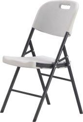 Sopradoras de plástico de HDPE branco banquete cadeira dobrável