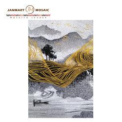 Стены зала плитки мозаикой ручной работы - изображения Tomorrow Mural оформление торгового центра китайского стеклянной мозаики на стене висел стекло живопись
