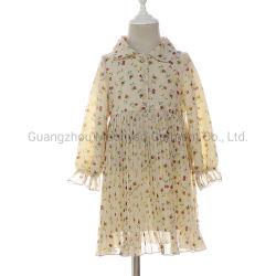 Reizende Blumen-Chiffon- Sprung-Herbst-Kleider für die jungen Mädchen, die Form kleiden