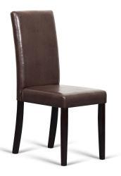 高い背部のどの革食事の椅子ロール上スクロール(FS-110B)