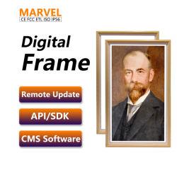 21 Zoll LCD-Video-Player, der Abbildung-Foto-Rahmen der Spieler USB-Ableiter-Karten-HD Digital bekanntmacht