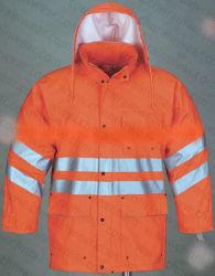 Orange Safety Workwear Hi Vis Parka Jacke Reflektierender Winter Parka