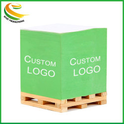 Custom Paper Block Memo Cube 33 Inch Stick Notes Met Houten Pallet