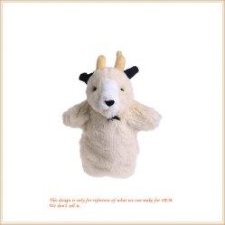 Fantoche de mão de ovinos Branco Plushy Grosso Fantoche de Animais
