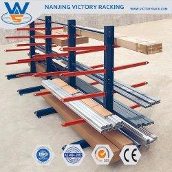 Het Rekken van de cantilever Rek van de Opslag van het Timmerhout van het Type het Op zwaar werk berekende Industriële