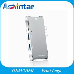 3.1 Tipo C adaptar USB hub 6 em 1 4K HDMI para Laptop Docking Tipo C Multifunção