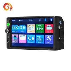 شركة السيارات للبيع الساخن توريد 7010 شاشة اللمس مراقبة السيارات 2 مشغل MP3 MP5 للسيارة بالراديو DIN 7بوصة مع مرآة مشغل السيارة المزود بتقنية Bluetooth